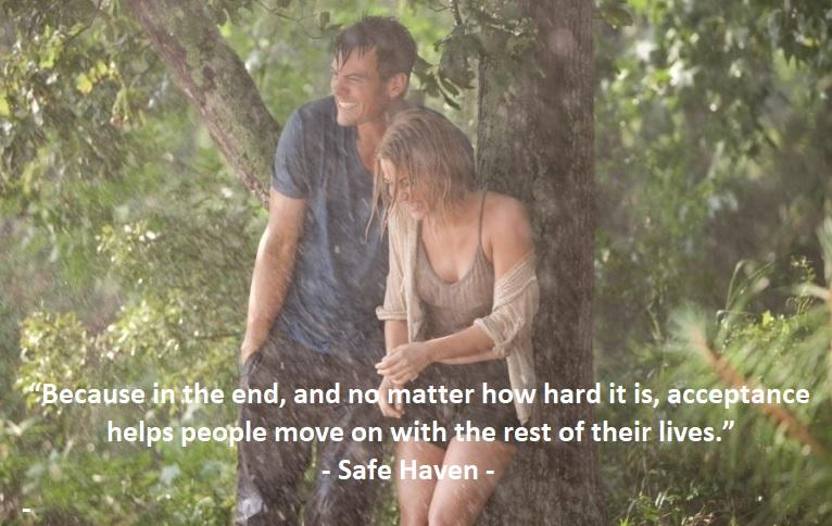 nicholas sparks movie safe haven romantic quote
